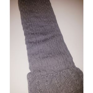 MeMoi Accessories - Gray over the knee socks